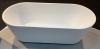 Aquadesign Monaco vrijstaand ligbad 178x80cm acryl mat wit 1208920983