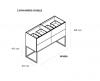 TopLine Metal badmeubelset met stalen onderstel - 4 lades mat wit - 120x45x90cm - dubbele wastafel mat wit