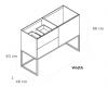TopLine Metal badmeubelset met stalen onderstel - 2 lades mat wit - 120x45x90cm - enkele wastafel mat wit (kloon)