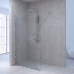 Aquadesign Minimal Inloopdouche profielloos 120x200 cm helder glas - geborsteld beslag