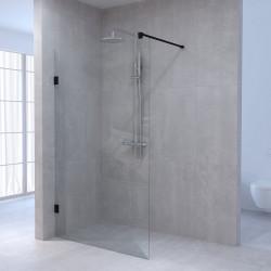 Aquadesign Minimal Inloopdouche profielloos 130x200 cm helder glas - antraciet beslag