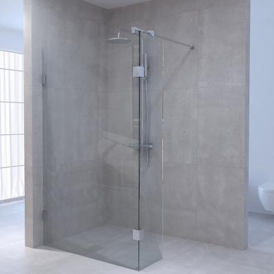 Aquadesign Minimal Inloopdouche met zijwand profielloos 90x30x200 cm helder glas - chroom beslag