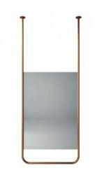 Aquadesign Alpha Spiegel plafondmontage 60x150x2cm geborsteld koper