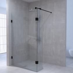 Aquadesign Minimal Inloopdouche met zijwand profielloos 140x40x200 cm helder glas - geborsteld rvs beslag (kloon)