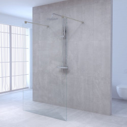 Aquadesign Minimal Doorloopdouche profielloos 140x200 cm helder glas - chroom beslag (kloon)
