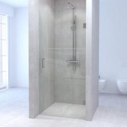 Aquadesign Minimal douchedeur 100x200cm profielloos - geborsteld rvs beslag