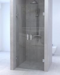 Aquadesign Minimal Pendeldeur 60x200 cm helder glas - chroom beslag
