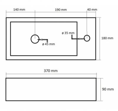 Blusani Fontein keramiek mat wit model rechts 37x18x9cm 1208931539
