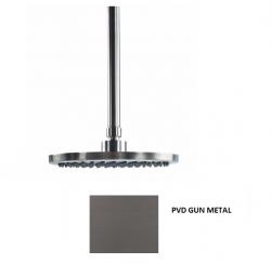 Waterevolution Flow hoofddouche 200mm met plafondaansluiting Gun Metal T1642GME