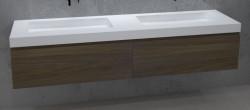 TopLine Amsterdam massief eiken badmeubel 120x50x35cm kleur havanna met greeploze en softclose laden