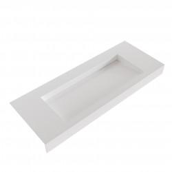 Solid-S Avon solid surface vrijhangende wastafel 120x46x10cm mat wit 1208946950