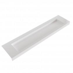 Solid-S Avon solid surface vrijhangende wastafel 200x46x10cm mat wit 1208946958