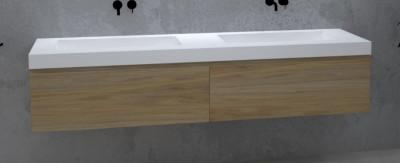 TopLine Amsterdam massief eiken badmeubel 160x50x35cm kleur natural 1208946985