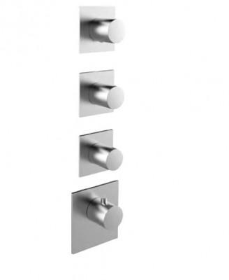 Rubio 316 High Flow Inbouw thermostaatkraan met 3 stopkranen RVS 1208947018