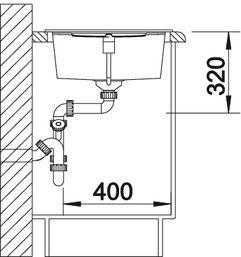 Blanco spoelbak Metra XL 6 S Automatisch opbouw rock grey 518881