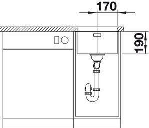 Blanco spoelbak Andano 340 Onderbouw 518305