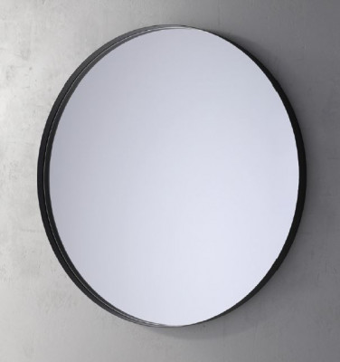 TopLine Spiegel rond met mat zwart frame met indirecte LED verlichting 100cm 1208952243