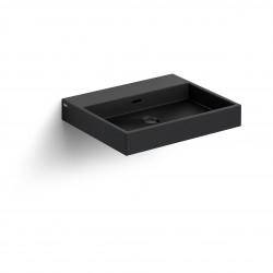 Clou Wash Me wastafel 50cm zonder plug mat zwart keramiek