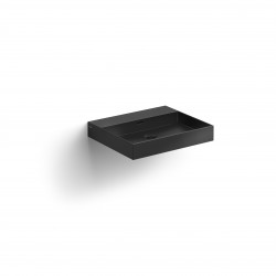 Clou New Wash Me wastafel 50cm zonder plug mat zwart keramiek