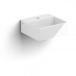 Clou New Flush 1 fontein incl. plug met kraangat wit keramiek