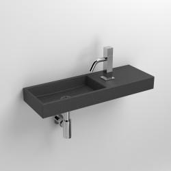 Clou Mini Wash Me fontein 56cm met kraangat rechts gezoet bas. compositie