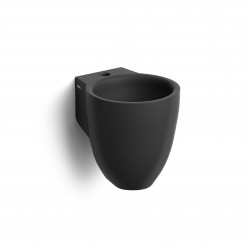 Clou Flush 6 fontein 27cm met kraangat mat zwart keramiek