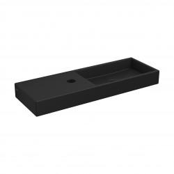 Clou Mini Wash Me fontein 56cm met kraangat links mat zwart