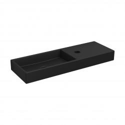 Clou Mini Wash Me fontein 56cm met kraangat rechts mat zwart