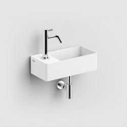 Clou New Flush 3 met afvoerpl. aluite voorbew. kraangat links. compositie