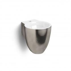 Clou Flush 6 fontein 27cm met kraangat platina/wit keramiek