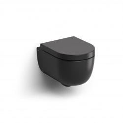 Clou Hammock randloze wandtoilet versie 49cm+zitting mat zwart