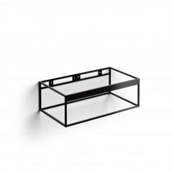 Clou FrameHammock rvs kokerprofielkast 90 cm mat zwart poederc.