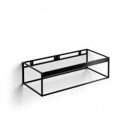 Clou FrameHammock rvs kokerprofielkast 110 cm mat zwart poederc.