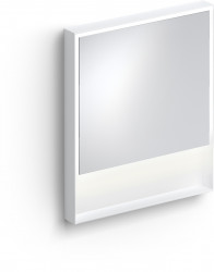Clou Look at Me spiegel 70cm LED-verlichting IP44 mat wit