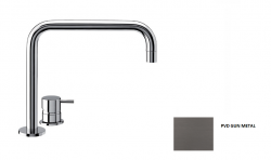 Waterevolution Flow 2-gats wastafelkraan Gun Metal T112HGME
