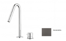 Waterevolution Flow 2-gats wastafelkraan Gun Metal T112V.GME