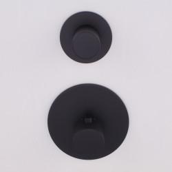 Rubio Nero High Flow Inbouw thermostaatkraan met 1 stopkraan mat zwart 1208952985