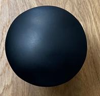 Solid S Pop-up afvoerplug solid surface mat zwart 1208953269