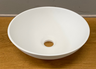 Solid S kleine waskom fontein Solid Surface rond 30 x 30 x 11 cm mat wit 1208953273