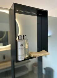Design Bath douchenis doucherek en handdoekrek mat zwart voor over douchewand 12089532934
