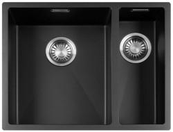 Lorreine Color-R zwarte rvs 1,5 spoelbak 3415cm 3415R-CLR-BLACK zwart 1208917019