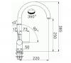 Franke Keukenkraan Active Neo Chroom uitloop 220 mm 1150426211