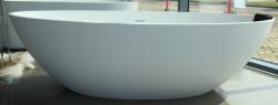 Solid-S Murcia vrijstaand ligbad 180x85 solid surface mat wit incl. afvoer en plug solid surface 1208953446