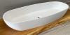 Solid-S Mare grote opbouwwastafel kom ovaal mat wit 95x37cm zonder overloop exclusief solid surface plug 1208953460