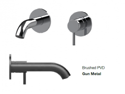 SB Round inbouw wastafelmengkraan gun metal PVD 102mm