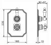 PB classic nostalgische klassieke inbouw doucheset chroom met handdouche en regendouche 225mm 1208953841