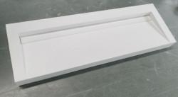 Solid-S Quatra wastafel solid surface mat wit zonder kraangat met solid cover B140xD45xH16 1208952413