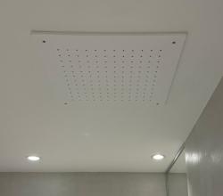 SB Rubinetterie mat wit corian solid surface inbouw vierkante regendouche plafonddouchekop 30cm 1208954082