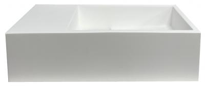 Solid-S Fontein solid surface mat wit B36xD18xH10 cm met cover model links zonder kraangat 1208954166
