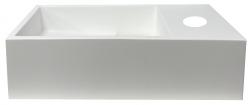 Solid-S Fontein solid surface mat wit B36xD18xH10 cm met cover model rechts met kraangat 1208954168